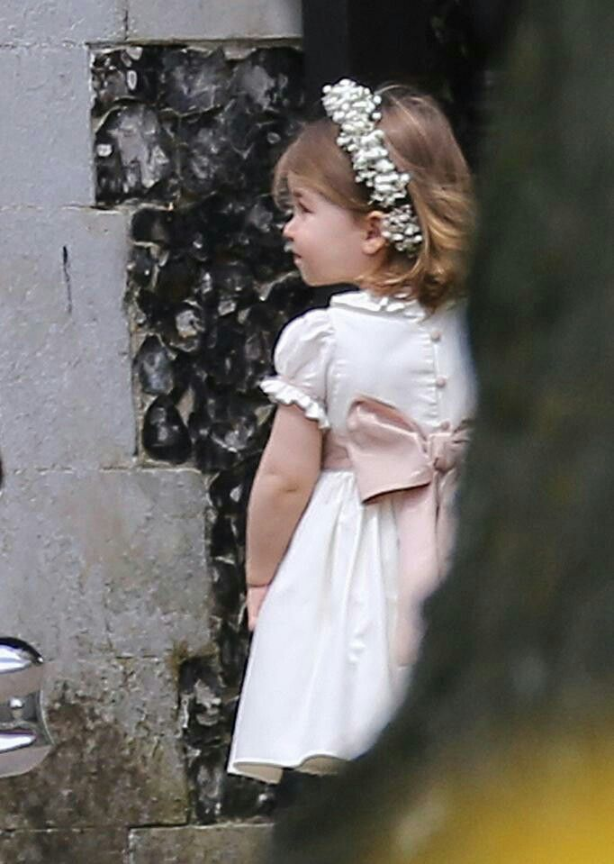 Princess Charlotte after the wedding of Pippa Middleton and James Matthews. May 20 2017.