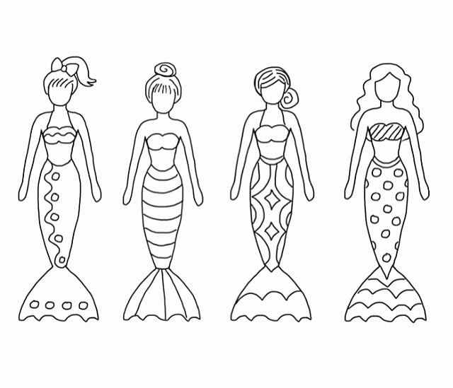 32 Mermaid Tail Coloring Page In 2020 With Images Mermaid