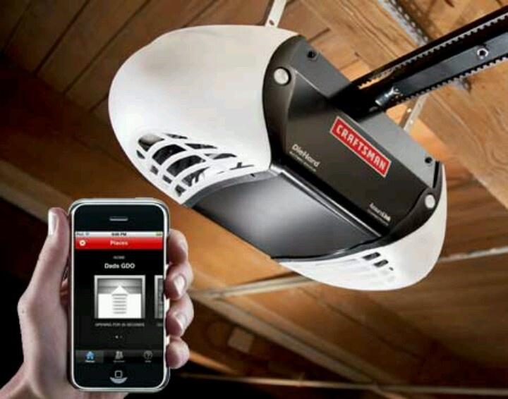 Garage door opener app tools pinterest for App to open garage door