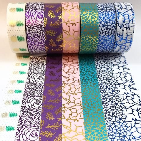 Colorful Foil Washi Tape
