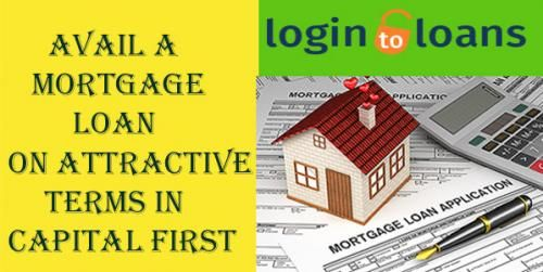 Apply online for best Capital First Mortgage loans in India - Compare Mortgage Loan interest rates from top banks and apply online for quick approval of Mortgage loan through Logintoloans.com. Quick & easy processing with minimum documentation.