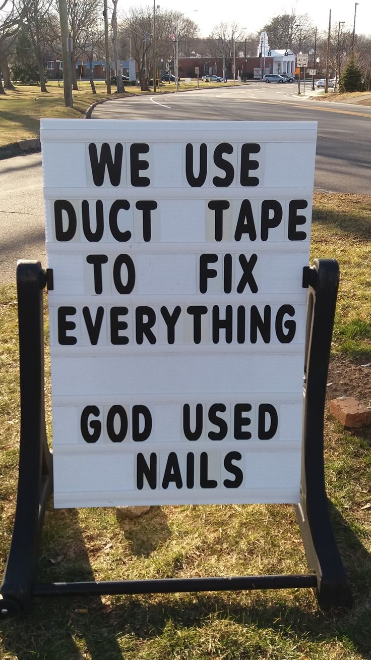 We use duct tape to fix everything.  God used nails.  #ChristandTheEpiphany