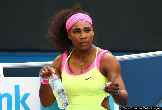 """World #1 Serena left the court with a hacking cough and nausea during a rain delay in the first set of the #AustralianOpen Championship Finals. For the first time in her nearly 20 years as a professional she vomited during a match.   """"I guess there's a first time for anything,"""" she said. """"I think, in a way, that just helped me. I felt better after that."""" #Feelbetter"""