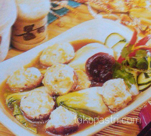 Resep Cara Membuat Bokchoy Dan Jamur Isi Udang