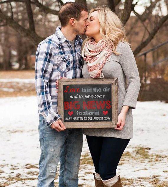 Valentineu0027s Day Chalkboard Pregnancy By ChalkingItUpBoards On Etsy