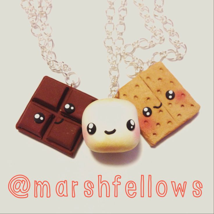 S'mores BFF necklaces