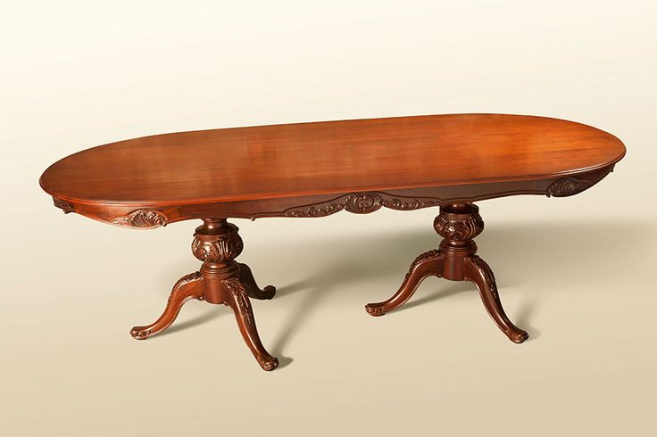 Hand-Carved Mahogany Dining Table H 95 in. x W 30 in. x D 46 in.
