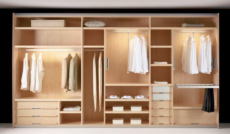 Dormitorio vestidor moderno decoracion via - Armarios de madera para dormitorios ...