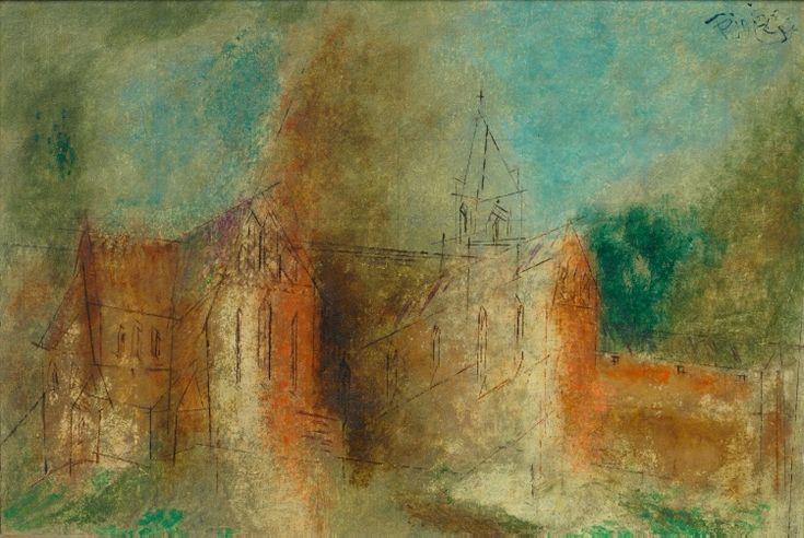 Cathedral (Cammin), 1942, Lyonel Feininger