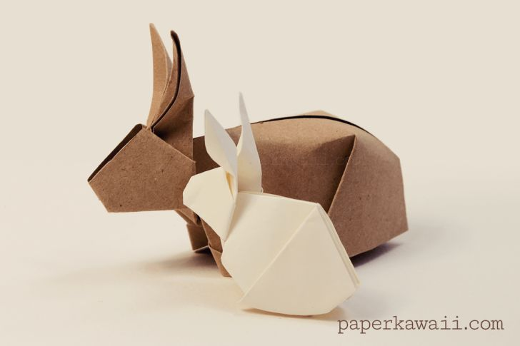 Origami Bunny - one for intermediate level, but adorable