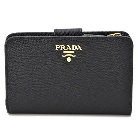 プラダコピー PRADA 2015年秋冬新作 型押しカーフスキン 二つ折り長財布 1ML225 QWA 002