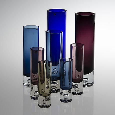 Tapio Wirkkala Cylinder Bubble Vases (Finland) 15.5cm to 29cm tall 10177726 bukobject