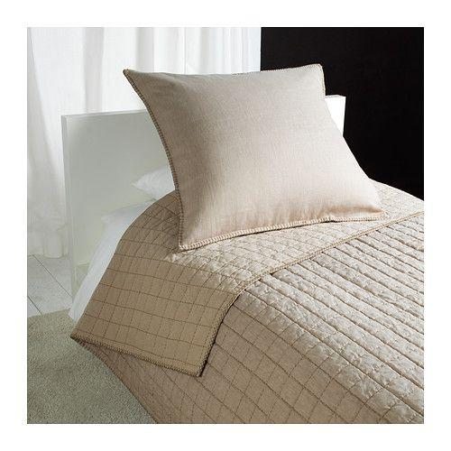 IKEA - STRANDVETE, Sprei en kussenovertrek, 180x280/65x65 cm, , De natuurlijke vezels van linnen zorgen voor subtiele variaties in het oppervlak waardoor het beddengoed een speciale structuur en een matte glans krijgt.Linnen houdt je lichaam 's nachts op een comfortabele en gelijkmatige temperatuur, omdat het ademt en vocht absorbeert.Linnen is een sterk, duurzaam materiaal dat goed kan worden gewassen en een natuurlijke bescherming heeft tegen vlekken. Wordt in de loop der jaren alleen maar…