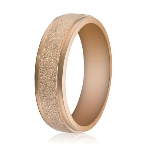 2mm Tungsten Wedding Band High Polish Rose Gold Plated Thin Ring  #Band