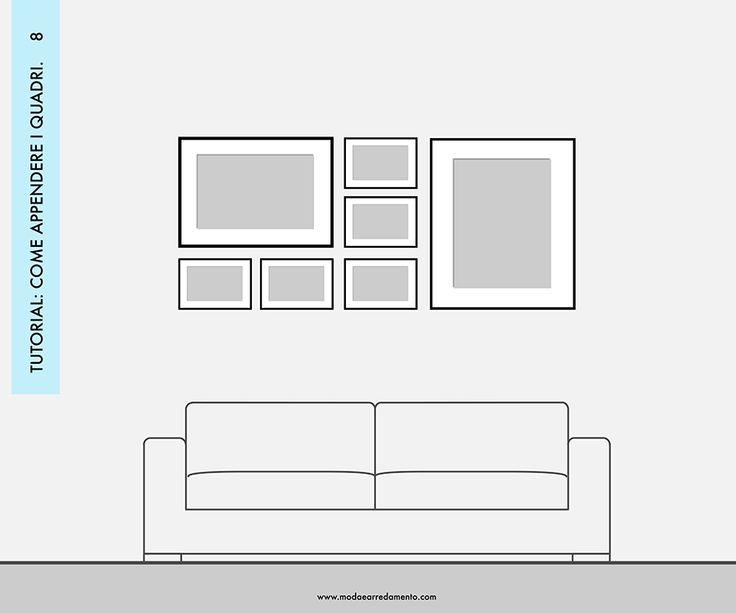 Come comporre i quadri nel retro divano - 10 idee a cui ispirarsi.