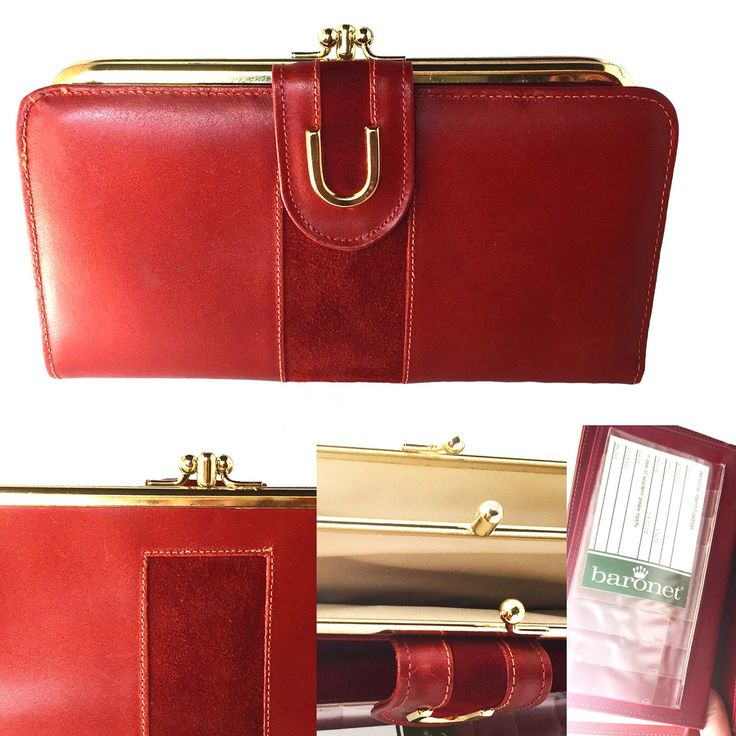 A *new* 1960's vintage Baronet wallet fit for a queens... Fiscal management on the go... All wrapped up in red crimson leather.