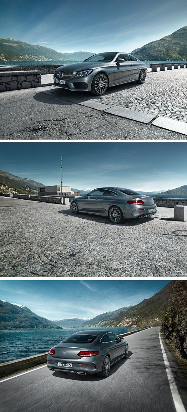 The Mercedes-Benz C-Class Coupé clearly pledges itself to stylish driving enjoyment.