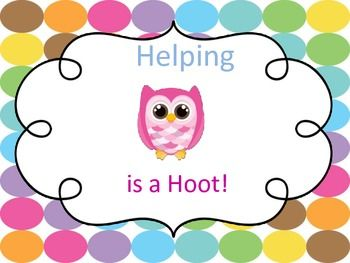 Classroom Job Chart. Cute Owl Decorations  Has most common classroom jobs! It also has 8 cards that you can use to create other jobs! LOOK for my new Product Specials Schedule in my store! It matches the Classroom Jobs! Posters.  Thanks for the interest in my products. This file is reproducible for single classroom use only. All work is copyright of Christy Smith. If you have any questions or have any problems with downloading this file, please email me! cpsmith1972@gmail.com