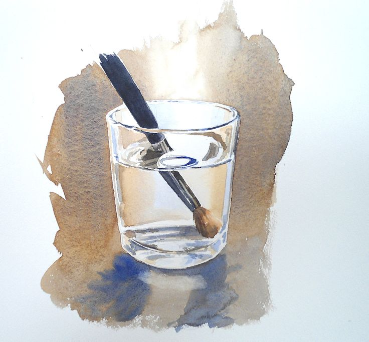 paintbrush glass still life in watercolours by rob dudley