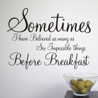 Alice in Wonderland quote wall graphic   From £8.99