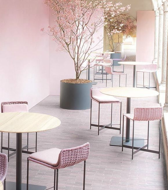 HERON | Counter stool Fabric counter stool by @paola_lenti  #design Francesco Rota
