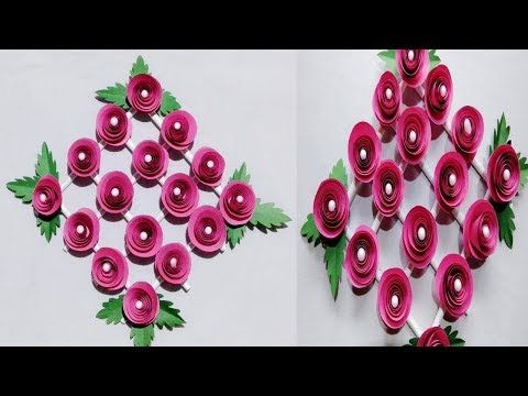 247 Diy Paper Flower Wall Hanging Wall Decoration Ideas Easy