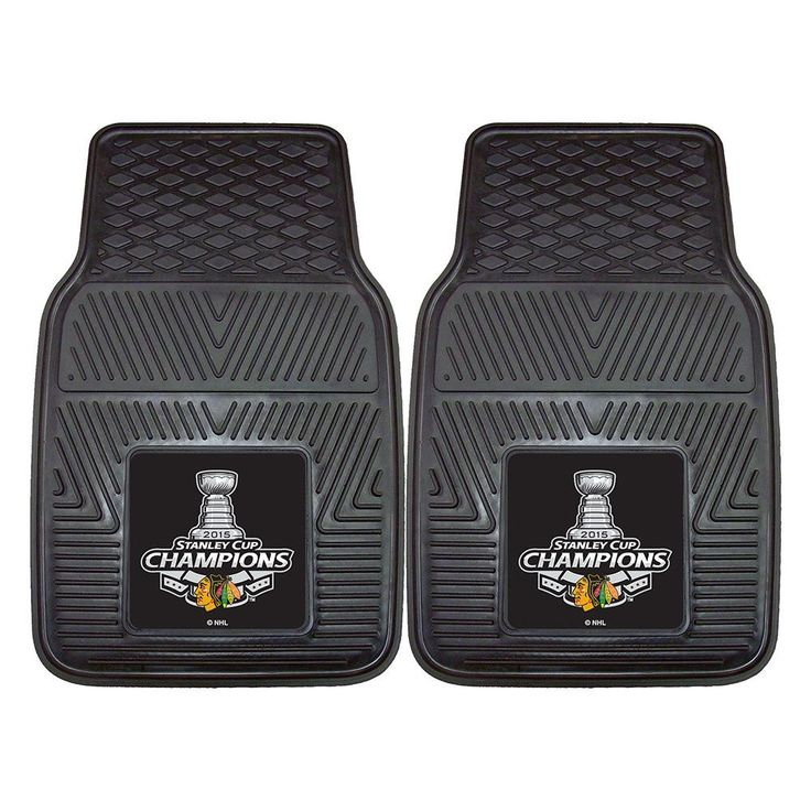 Chicago Blackhawks 2015 NHL Stanley Cup Champions Heavy Duty 2-Piece Vinyl Car Mats (18x27)