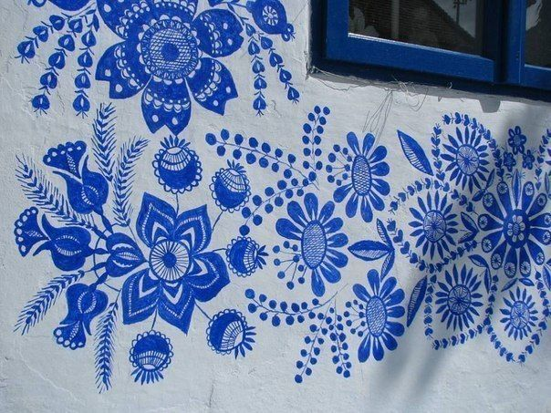 Moon to Moon-Anežka Kašpárková  is a grandma in her 80's who has been painting beautiful ultramarine blue flowers in her village for generations.