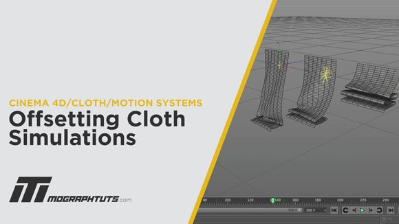 Cinema 4D - Offset Cloth Simulations with Step Effector Tutorial