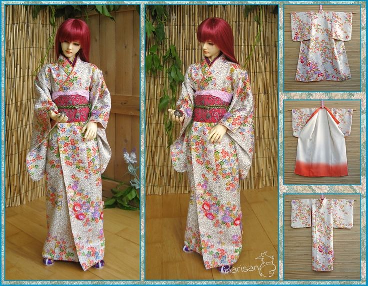 BJD Kimono for 69-63cm boy and girl dolls by InarisansCrafts