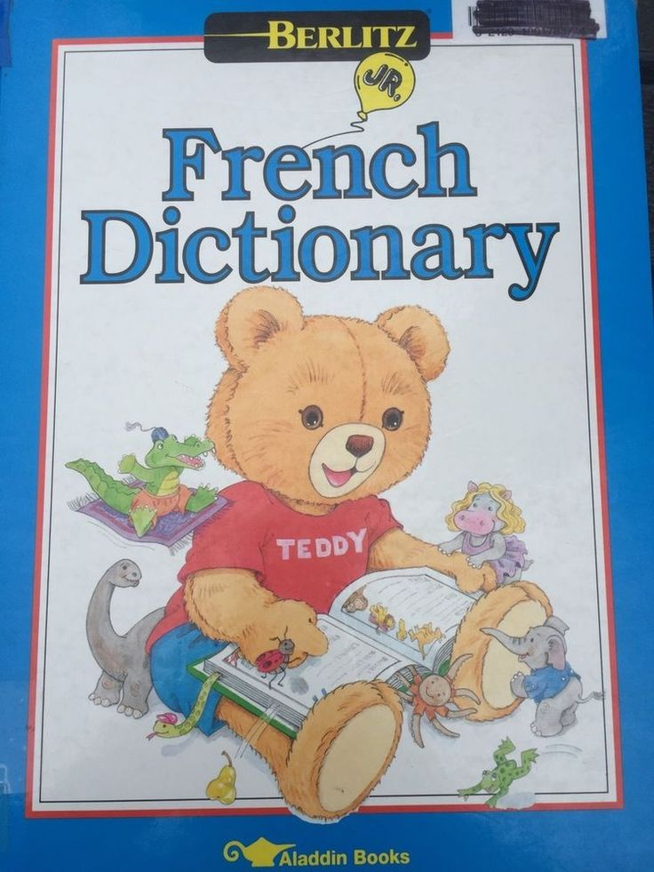 Berlitz Jr. French Dictionary Pictures Children HC