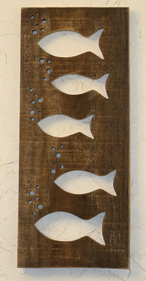Fish Swimming on Reclaimed Pallet Wood Board