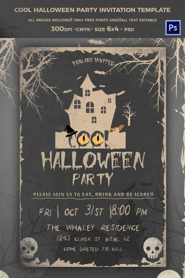Halloween Party Invitations Template Unique 68 Halloween Templates E Party Invite Template Free Halloween Party Invitations Halloween Party Invitation Template
