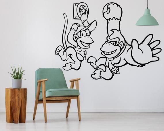 Donkey Kong, Donkey Kong Art, Donkey Kong Decal, Donkey Kong Wall Art,  Video Game Art, Video Game Decor, Video Game Posters, Gaming Art In 2018 |  Laneu0027s ...