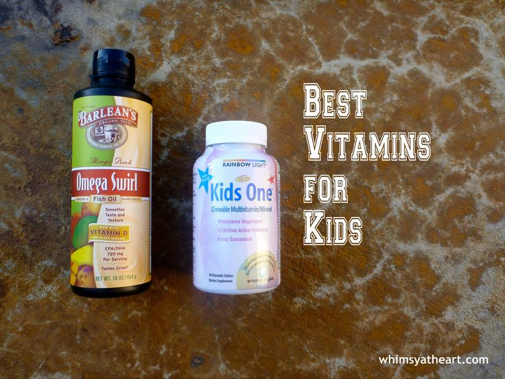 These 2 products are the best vitamins for kids because they provide a food-based multivitamin & probiotic as well as necessary fish oil.