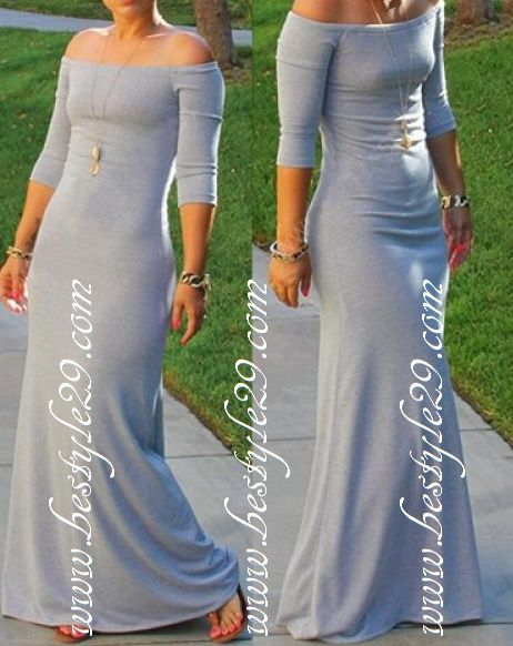 Longue robe épaules dénudées - bestyle29.com
