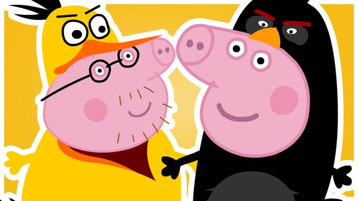 Киндер Сюрприз. Свинка Пеппа. Энгри Бердз. Peppa Pig. Kinder Surprise. A...