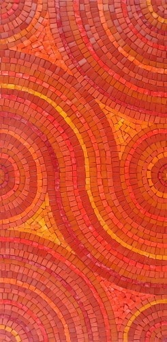 "Orange mosaic ""Feeling the Heat"" by Sue Kershaw"