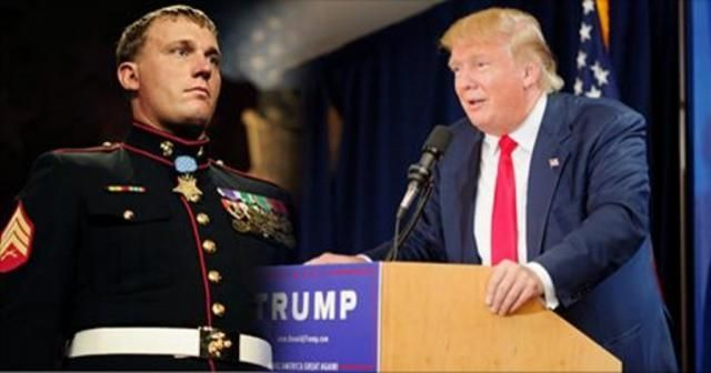 Trump tells Medal of Honor recipients that he also is 'brave.'