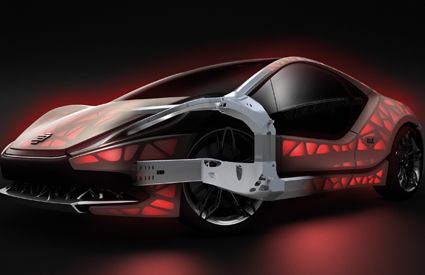 The U201cEDAG Light Cocoonu201d Concept Car Is A Functionally Integrated  Lightweight Vehicle Structure Capable