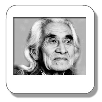 """Chief Dan George was chief of the Salish Band in Burrard Inlet, BC, but he was also an actor. He is best remembered for his role as Old Lodge Skins, Chief of the Cheyenne Tribe  who adopt Dustin Hoffman in """"Little Big Man"""". He has also starred in the James A. Michener TV Miniseries """"Centennial"""", and he also co-starred with Clint Eastwood in """"The Outlaw Josey Wales"""". In addition to feature films, Chief Dan George has also guest starred on many TV shows, including """"The Incredibl"""