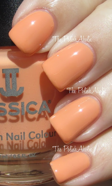 Love Story. Gorgeous cantaloupe orange.Reviews, Stories, Collection Swatches, Polishaholic, Pale Peaches, Gorgeous Cantaloupe, Perfect Polish, Jessica Bliss, Gorgeous Shades
