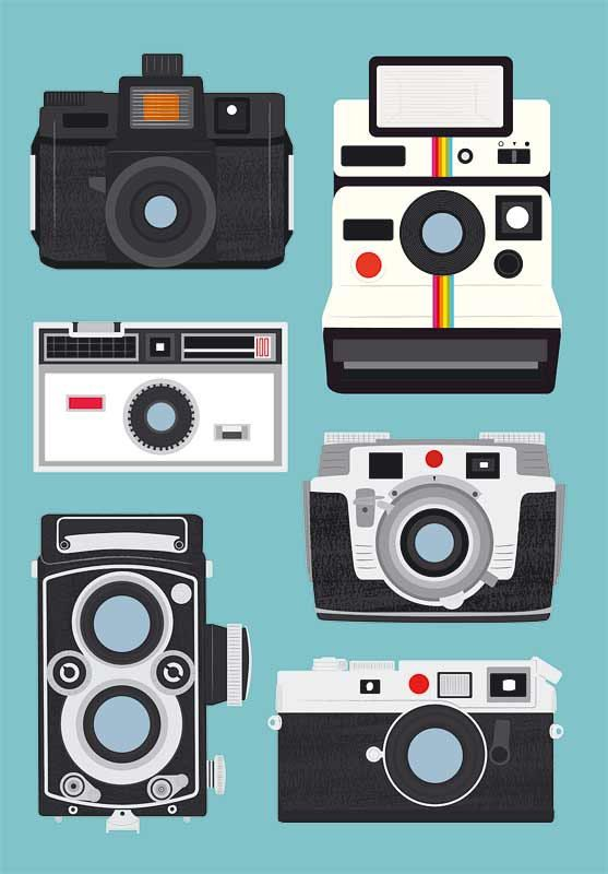 Polaroid camera print wall decor Nursery  print  Camera by handz