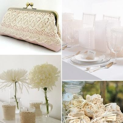 love the lace on this purse