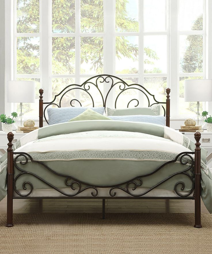 Look at this Cheri Bed Frame on  zulily today. 17 Best ideas about Metal Beds on Pinterest   Iron headboard