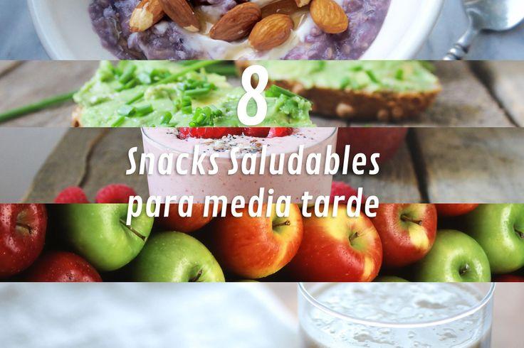 8 Snacks de media tarde saludables y ligeros para que los incluyas desde ya en tu #dieta