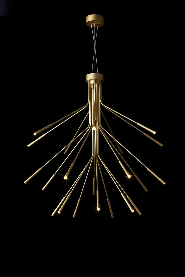 Quorum electra 8 light sputnik chandelier amp reviews wayfair - Contemporary Chandelier Aluminum Led Lightweight Tom Kirk Lighting