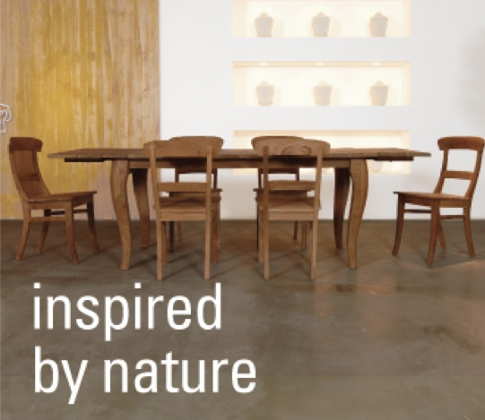 chrysalis dining table by tree