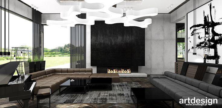PASSION FOR THE ARTDESIGN   Wnętrza rezydencji   Salon w stylu nowoczesnym