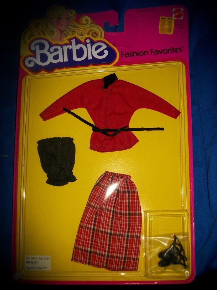Barbie Fashion Favorites Mattel 1979 New in package Vintage 3447 doll clothes | eBay